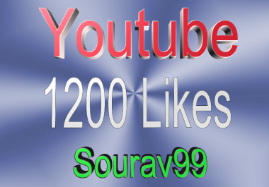 Youtube 1200 Likes High Quality Non Drop