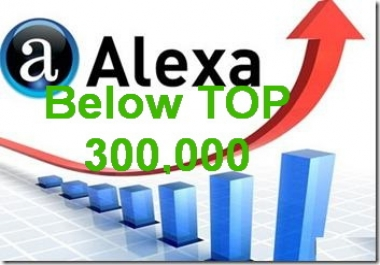 Improve Your Alexa Rank below TOP 300,000 in 1 week+