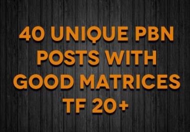 Do Rank Authorithy 40 Pbn High Da Pa Tf Cf Posts
