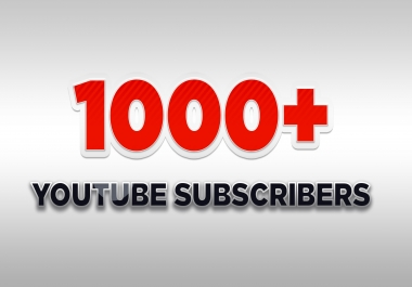 Add for You 1000+ Real Subscribers or 3000 Likes or 20,000 Views