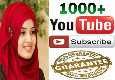 Instant Add safe 1000 Y T channel subscriber non drop Guaranteed  super fast in 2-8 hours
