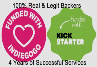 Provide You 2018 Backers For Kickstarter Indiegogo