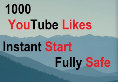 1000 YT Likes Real Human Windows Desktop Super Safe Instant start