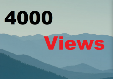 4,000 You - Tube Vie - ws Real Human Windows Desktop Super Safe Instant start