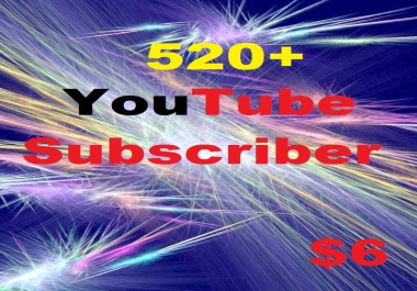 Add You'Tube 520+ Active Subs-cribber Instant Start Manually Given & Safe