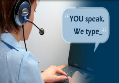 transcribe an audio file for you