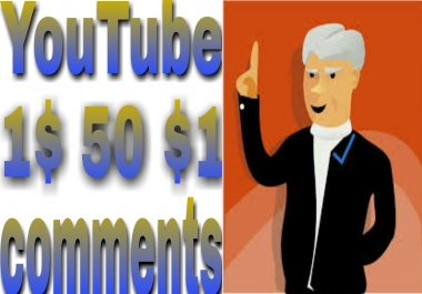 Stable 50+ Non-Drop Custom Comment Different YouTube Account must be profile picture