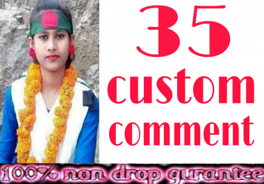 Stable 35+ Non-Drop Custom Comment Different YouTube Account must be profile picture