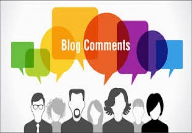 I make 150 unique blog comment for you