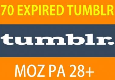 70 Expired Tumblr PA 28 plus