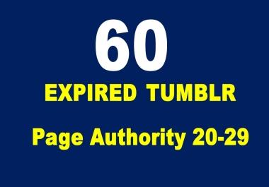 60 Expired Tumblr PA 20 plus