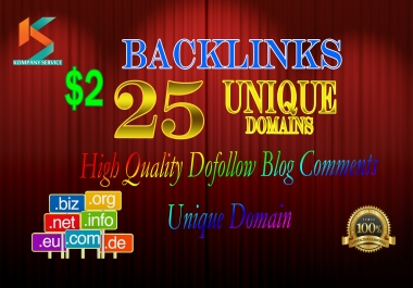 provide manual unique domain blog comments backlinks for just 2$.