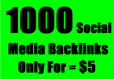 1,000 Social Media Backlinks on your Youtube Channel