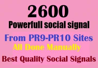 Build 2600 Real & High Quality Social Signals