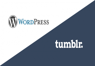 50 Blog post (WordPress and Tumblr) Quality Back links for your YouTube Video