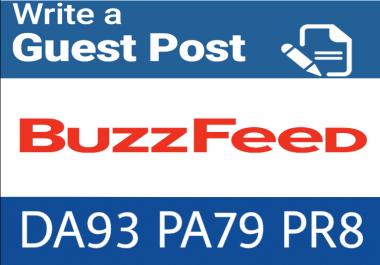 guest post on buzzfeed. Com DA 93 PA79, PR 8 DOFOLLOW Backlink