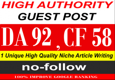 write & publish a guest post on Quora. Com PA91, CF58, DA92 [limited offer]