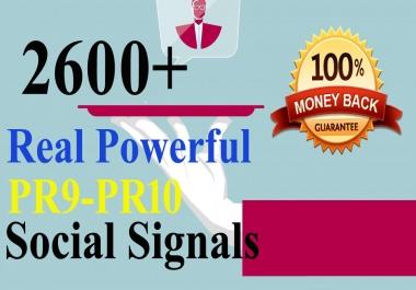 Build 2600 Real Powerful Seo Social Signals