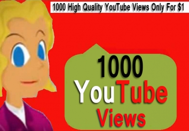 Get 1000 High Quality Views fast delivery