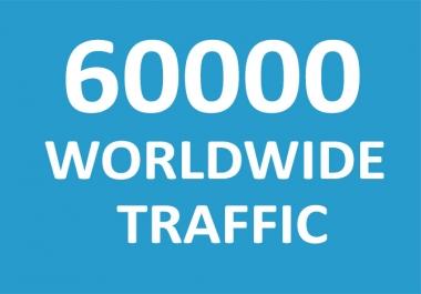 60,000 Web traffic Worldwide in 1 Days