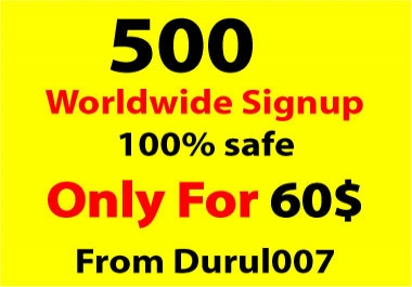 Get 500 Worldwide referral signup on your website