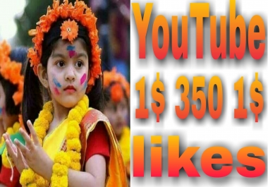 Provide You 350+ YouTube Video Likes very fast in 2-1 hours