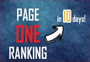 Get you Page 1 (ONE) ranking in 10-15 days! + FREE 300 visitors daily for 30 days