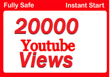 Super Fast 20000 youtube views 600 like + 22 comment Non drop