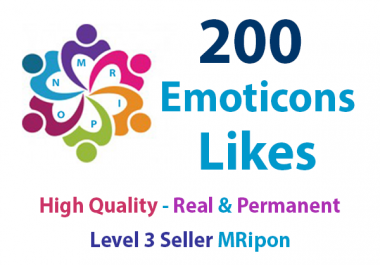 Start Instant 200 High Quality Emoticons Post Likes