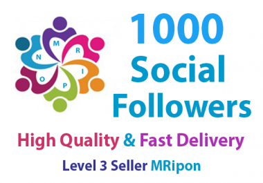 Get Instant 1000 High Quality Social Profile Followers
