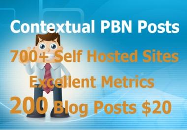 Kickass PBN Service with 200 DripFed Contextual Blog Posts
