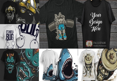 We design a HQ CUSTOM T-Shirt + FREE bundle of designs as bonus