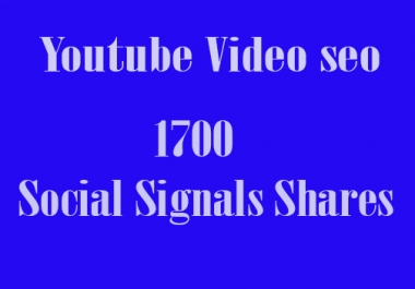 CPA Marketing Youtube Video Seo Best Package 1700 Social Signals