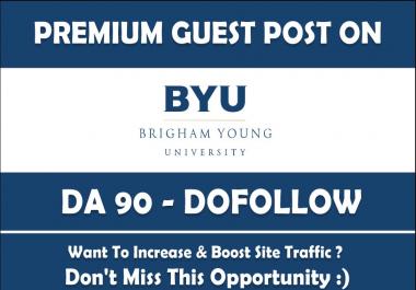 Publish a Guest Post on Brigham Young University. Byu. edu - DA90 for