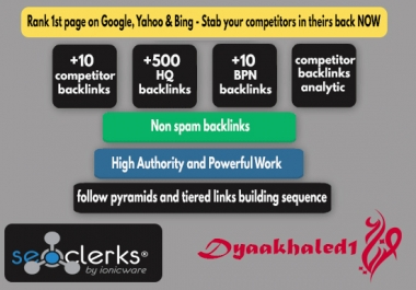 Rank 1st page on Google, Yahoo & Bing - Stab your competitors in theirs back NOW!!
