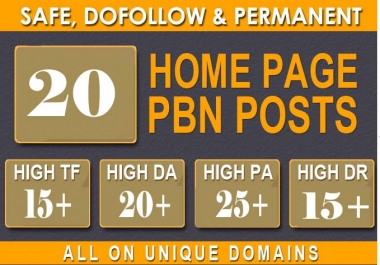 25 Manual High TF CF DA PA 30+ to 25 Dofollow PBN Backlinks With 1000 2nd Tiers