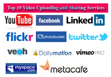 Do SEO Optimized Your Video and Upload To 10 Video Uploading Sites with Share