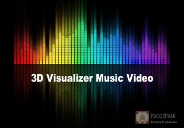 create a 3D visualizer music video