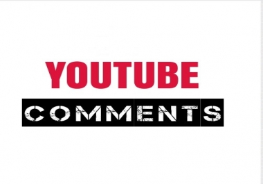 HQ 50 Youtube Random or Custom Comments USA  Instant & Real