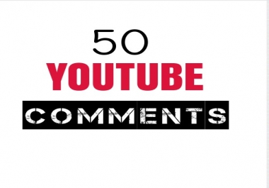 HQ 50 Youtube Comments USA  Instant & Real