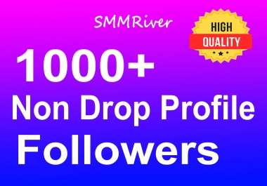 Add 1000+ Profile Followers Real High Quality and Non Drop