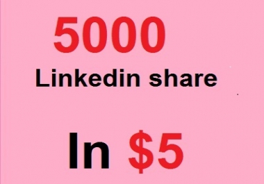 5000 linkedin share OR 100 Pinterest Repin signals backlinks for in for $5