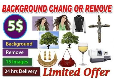 Remove change Background of 20 Pictures Professionally