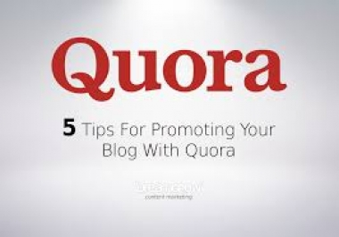 FASTSEORESULTS- Promote Your Website With High Quality 20 Quora Answer  with your keywords & url