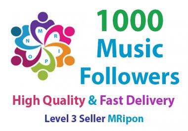1000 High Quality Music Profile Followers