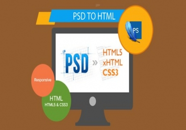 Convert Psd To HTML For You