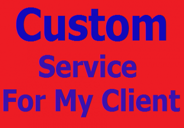 Custom service for any clients on social networks