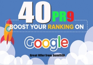 Create manual 40 PR 9 backlinks to rank high in google