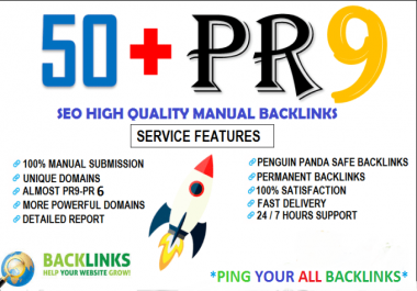 Create 50 Backlinks From High DA-60+ Domains