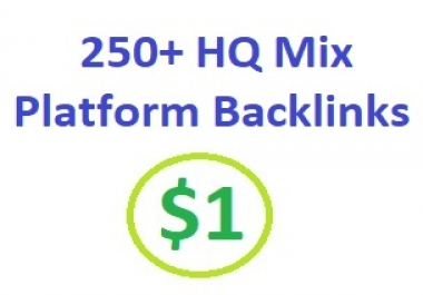 250+ HQ Mix Platform Backlinks and rank higher on search engines